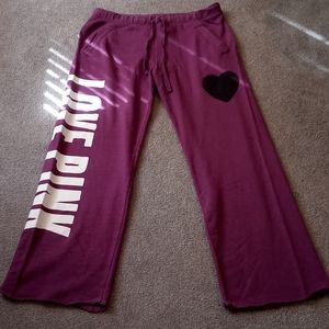 BRAND NEW!! PINK boyfriend sweatpants